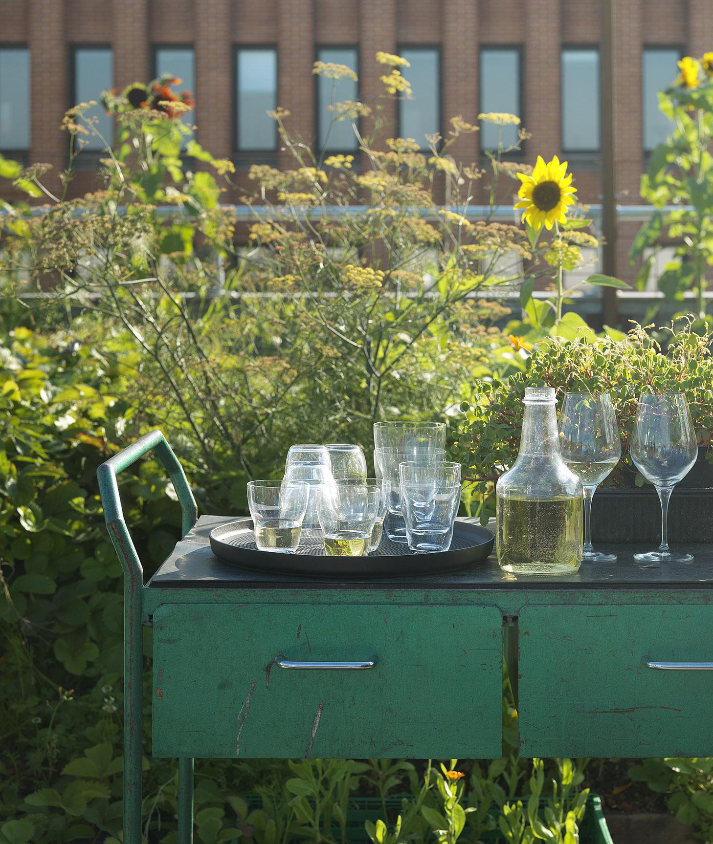 Det lille grønne bord med vin på.jpg