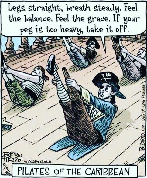 Pilates of the Caribbean. 😂😂😂😂😂