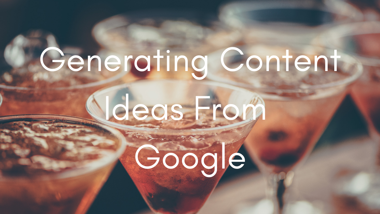 Generating content ideas from Google