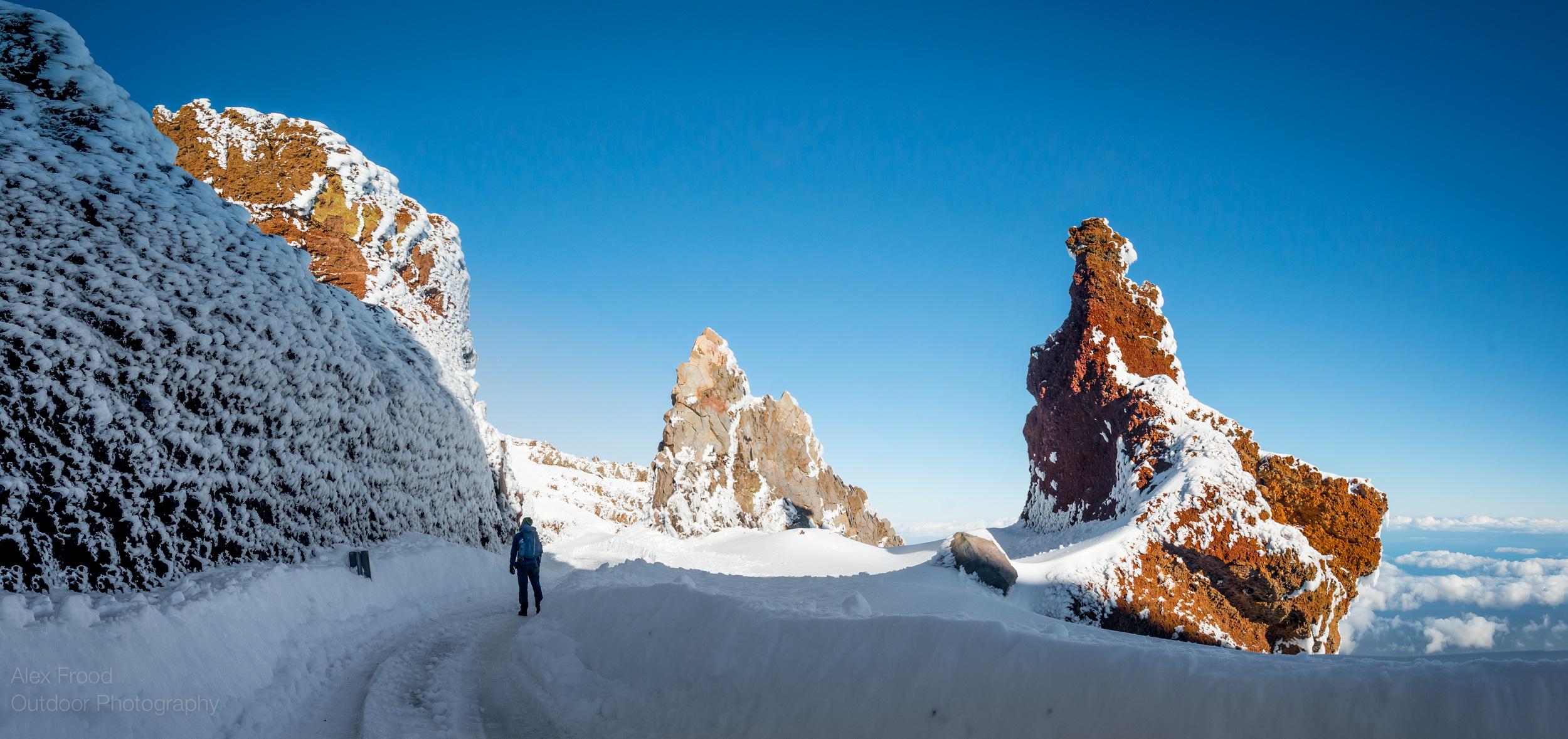 Fresh snow storm hit the highest peaks of La Palma