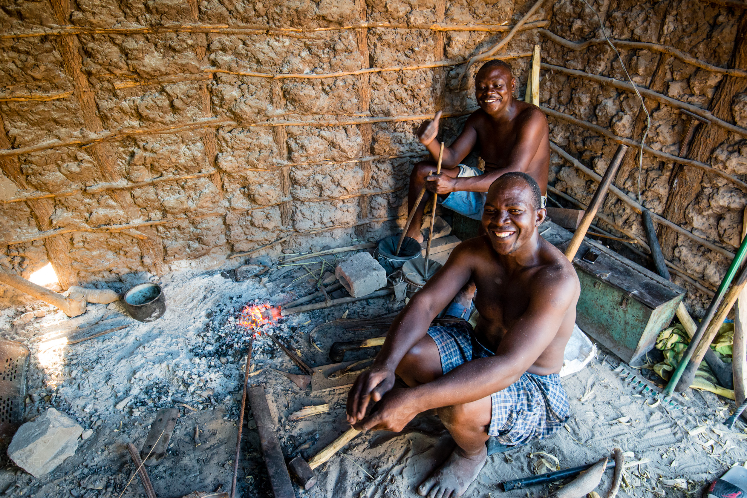 Local Blacksmith, Mwandi, Zambia