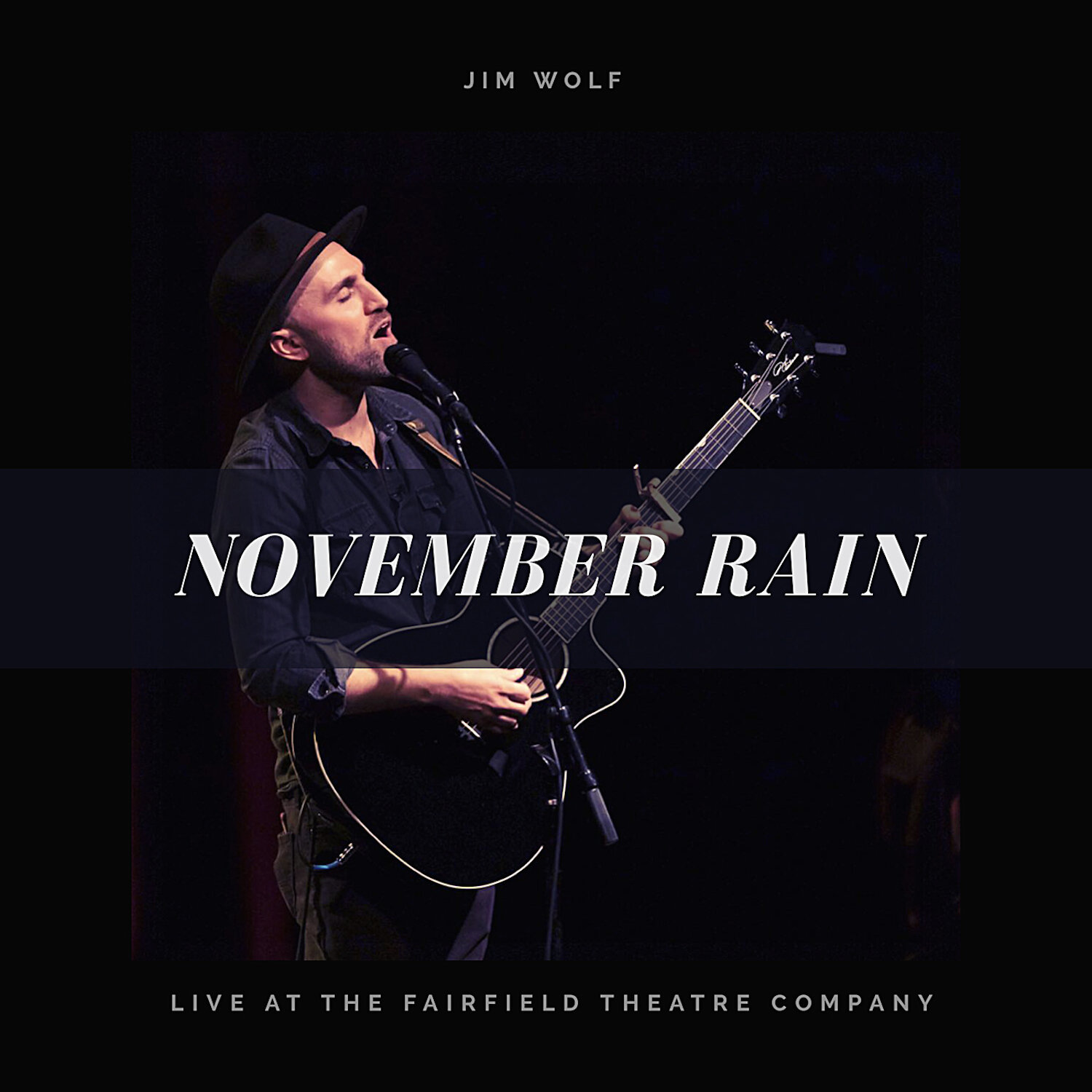"""NEW SINGLE OUT - Listen to Jim Wolf's live folk rendition of Guns N' Roses """"November Rain"""" - Live At The Fairfield Theater Company - is now streaming everywhere!  https://on.cmdshft.com/NovemberRain"""