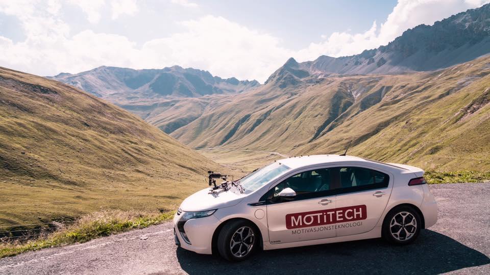 Motitech har i sommer filmet i Alpene.