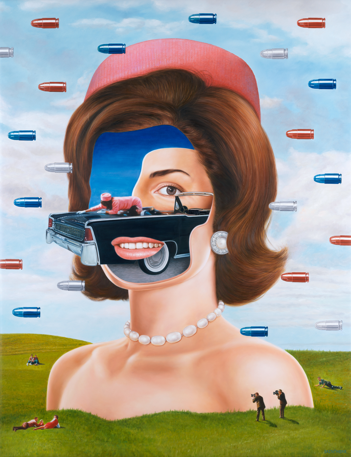 The Kennedy Dream - 2018Oil on canvas115 x 150 cm ( 45.2 x 59 in)$39,000