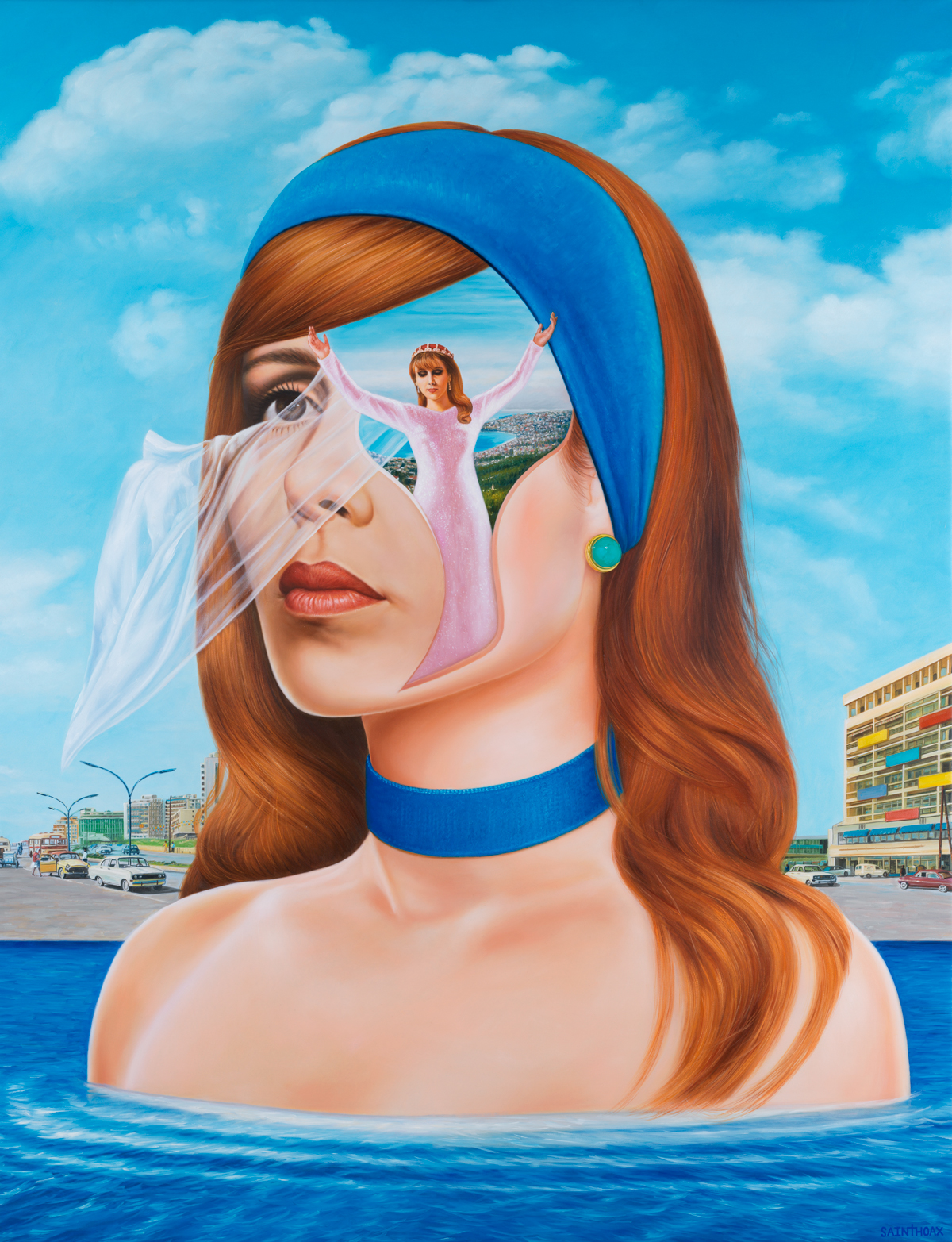 Ode to Fairouz - 2018Oil on canvas115 x 150 cm ( 45.2 x 59 in)$42,000