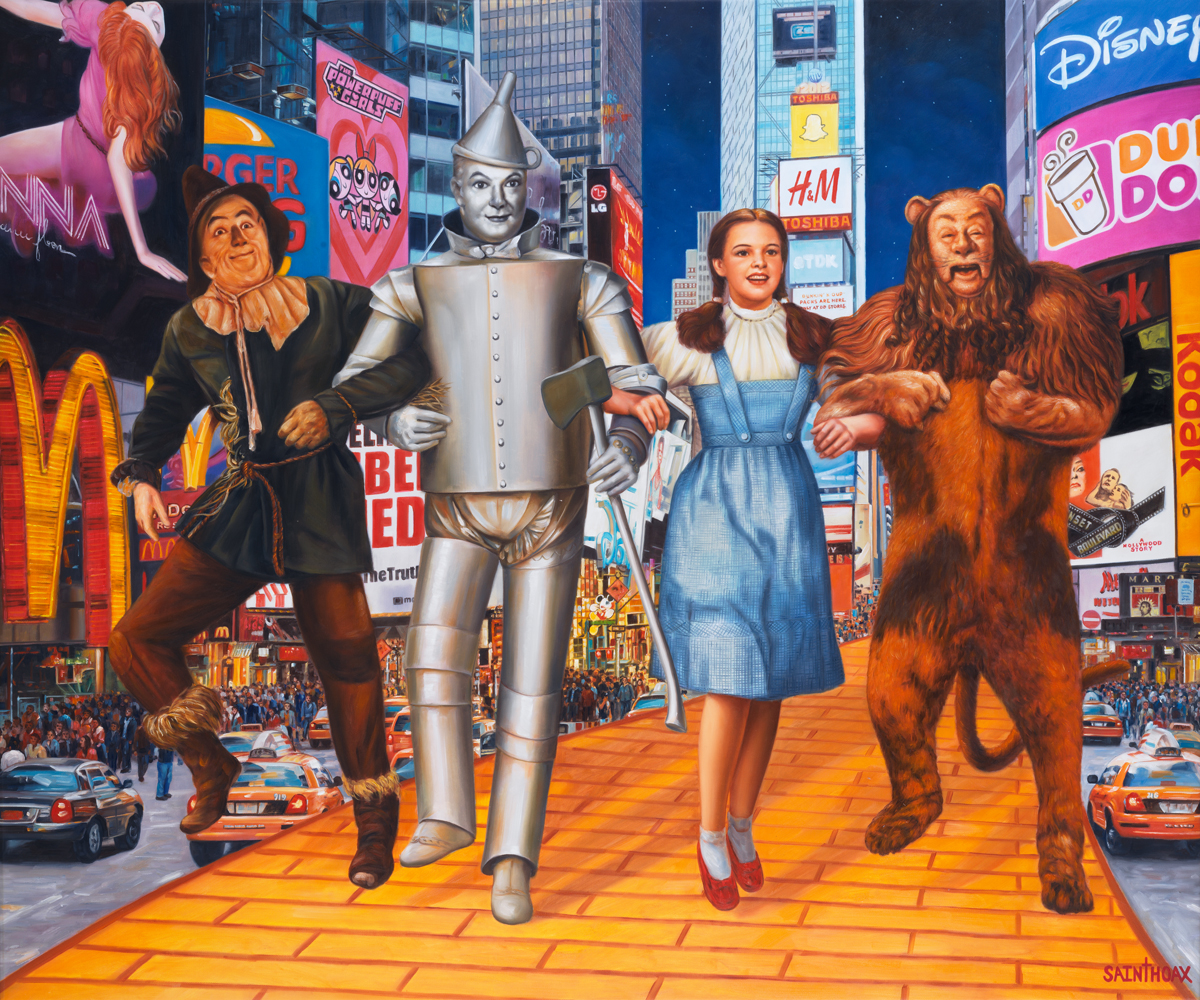 THE WIZARD OF TIME'S SQUARE - 2016Oil on canvas120 x 100 cm (47.2 x 39.3 in)$14,000