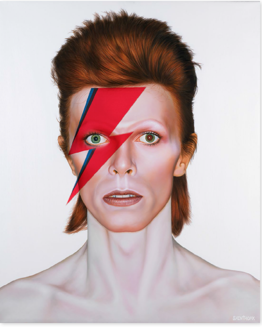 Ziggy Stardust - 2017Oil on canvas, projection mapping105 x 130 cm (41.3 x 51.1 in)$14,000