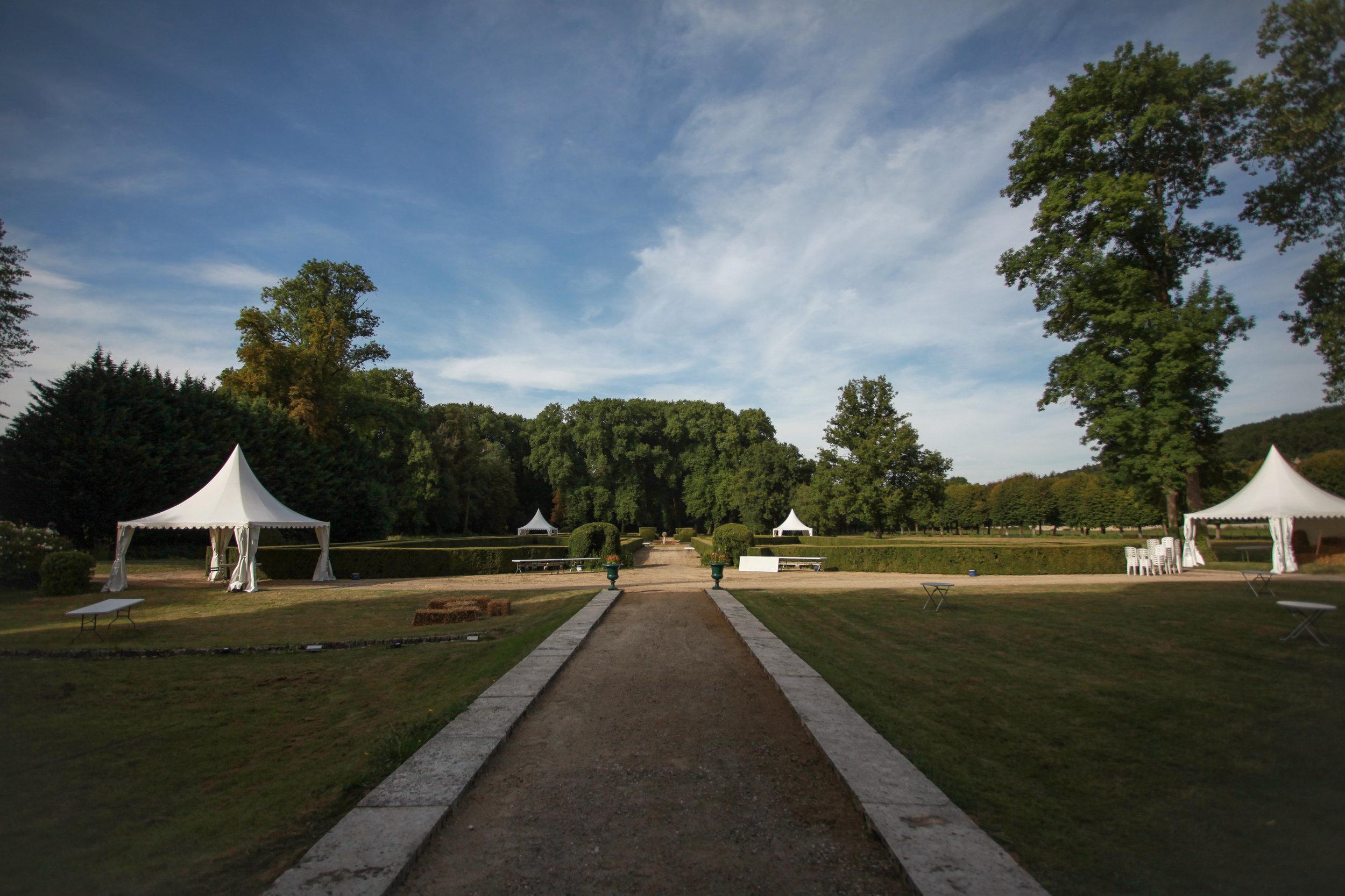Jardins à la française Château de Taisne