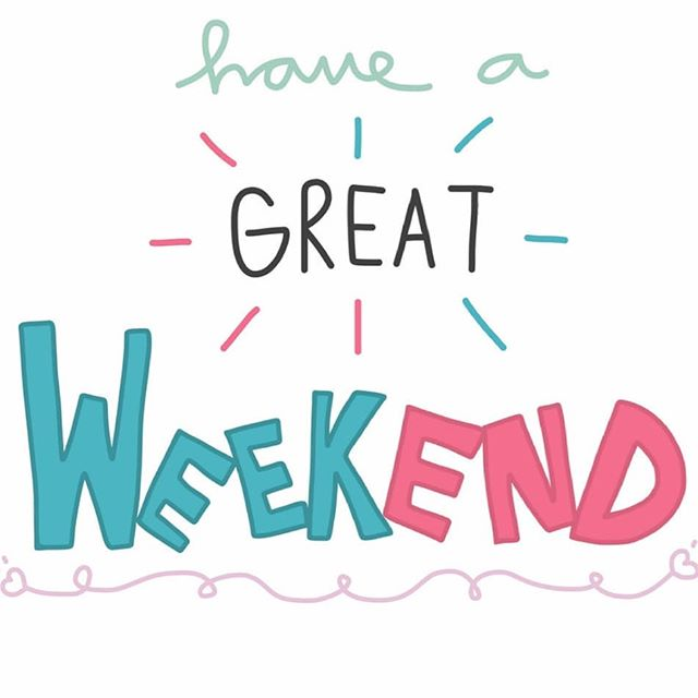 Have a great long weekend everyone! Relax and be safe!