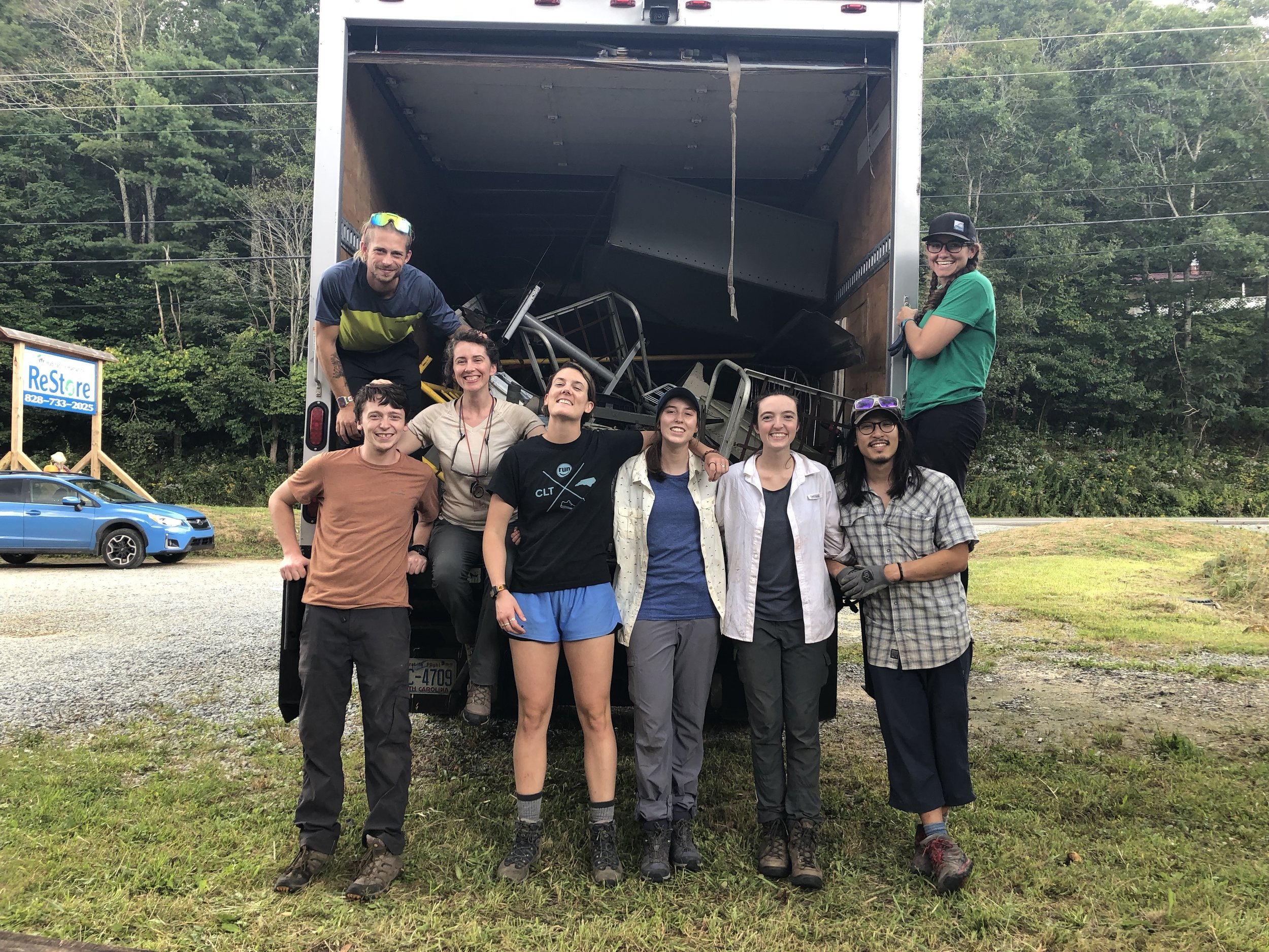 NC Outward bound - NC Outward Bound volunteered with us in late summer 2018 and helped us with a number of projects. They cleaned out our warehouse and helped to haul off metal at the ReStore.