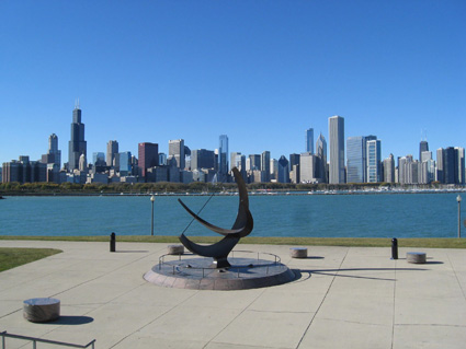 View of Chicago from Planetarium
