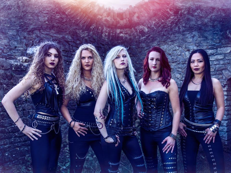Burning Witches is: Seraina - Vocals, Romana - Guitars, Sonia - Guitars, Jay - Bass, and Lala - Drums