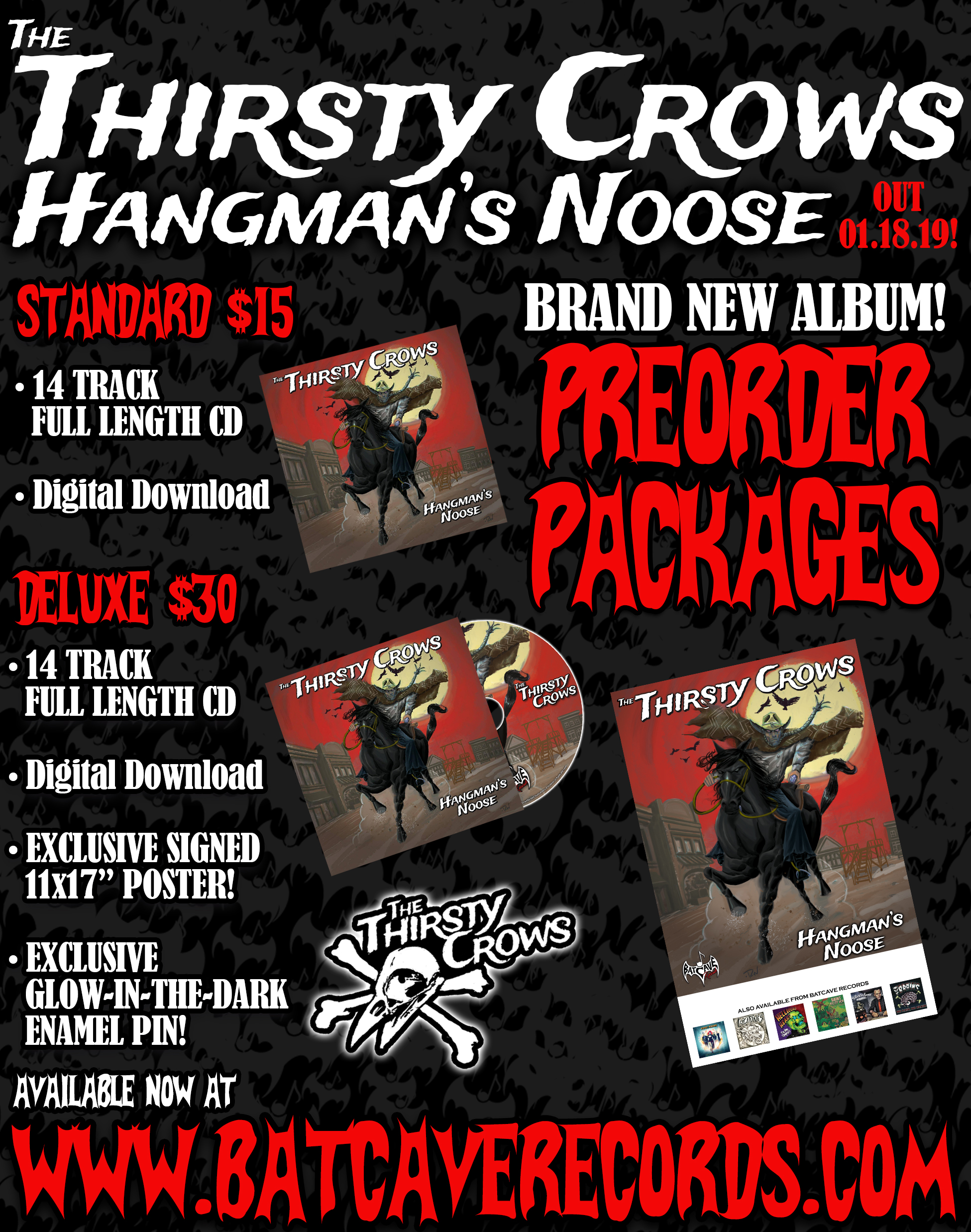 Hangman's Noose will be released 18th of January, 2019. Pre-order your copy by clicking the link above! Pre-orders ship 2nd of January, so get yours in now!