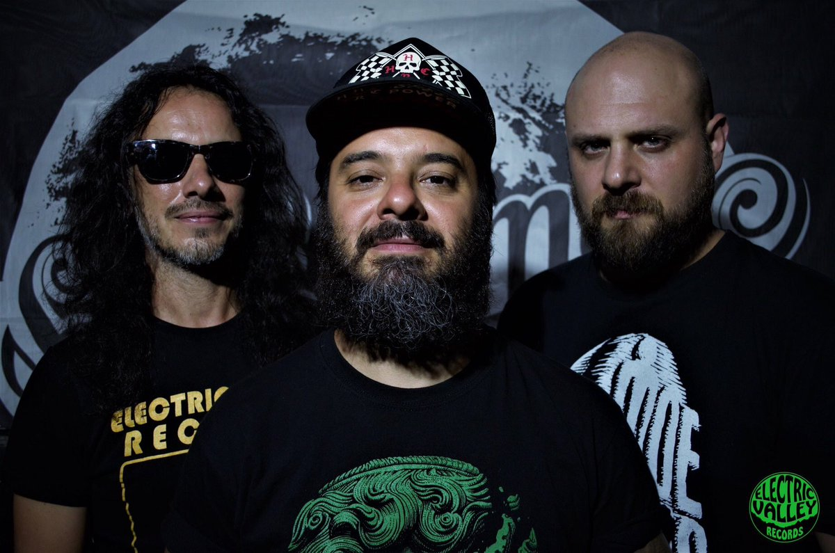 "Elepharmers is: Guido ""El Chino"" Solinas – rhythm guitar, vocals & octaver bass, Andrea Cadeddu – lead guitars and Maurizio Mura - drums"