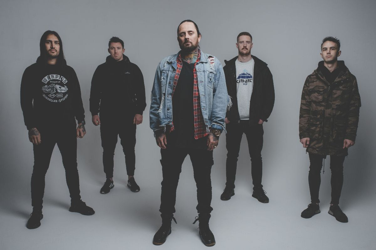 THY ART IS MURDER is: C.J. McMahon | Vocals, Sean Delander | Rhythm Guitar, Kevin Butler | Bass Guitar, Jesse Beahler | Drums, and Andy Marsh | Lead Guitar  Photo: Jake Owens