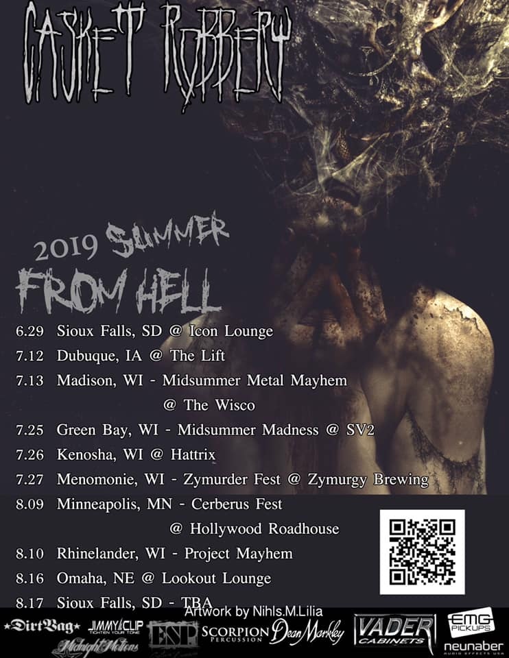 Casket Robbery still has some dates left through the summer in the Mid-West USA. Definitely check them out if they are in your area for a high-octane experience!