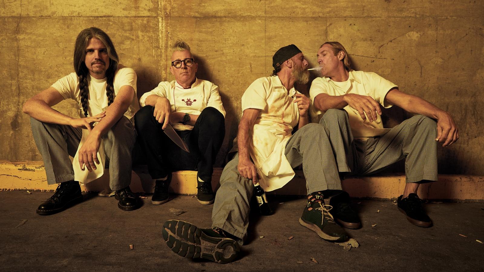 Tool is: Danny Carey, Justin Chancellor, Adam Jones, and Maynard James Keenan  Photo: Travis Shinn