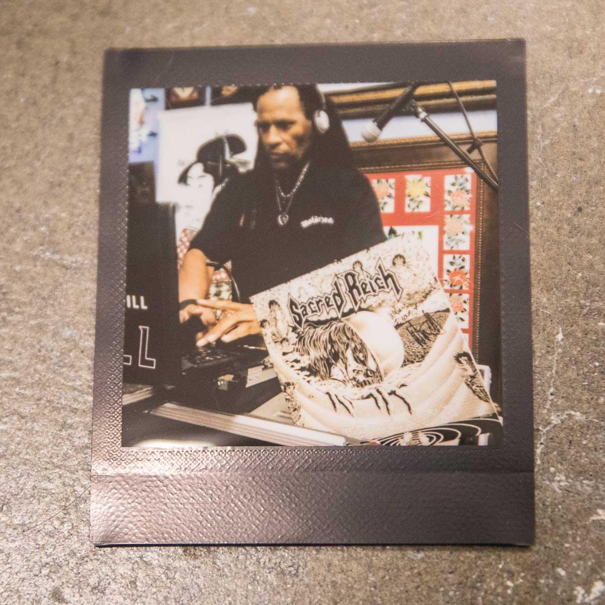 DJ Will spinning the tune