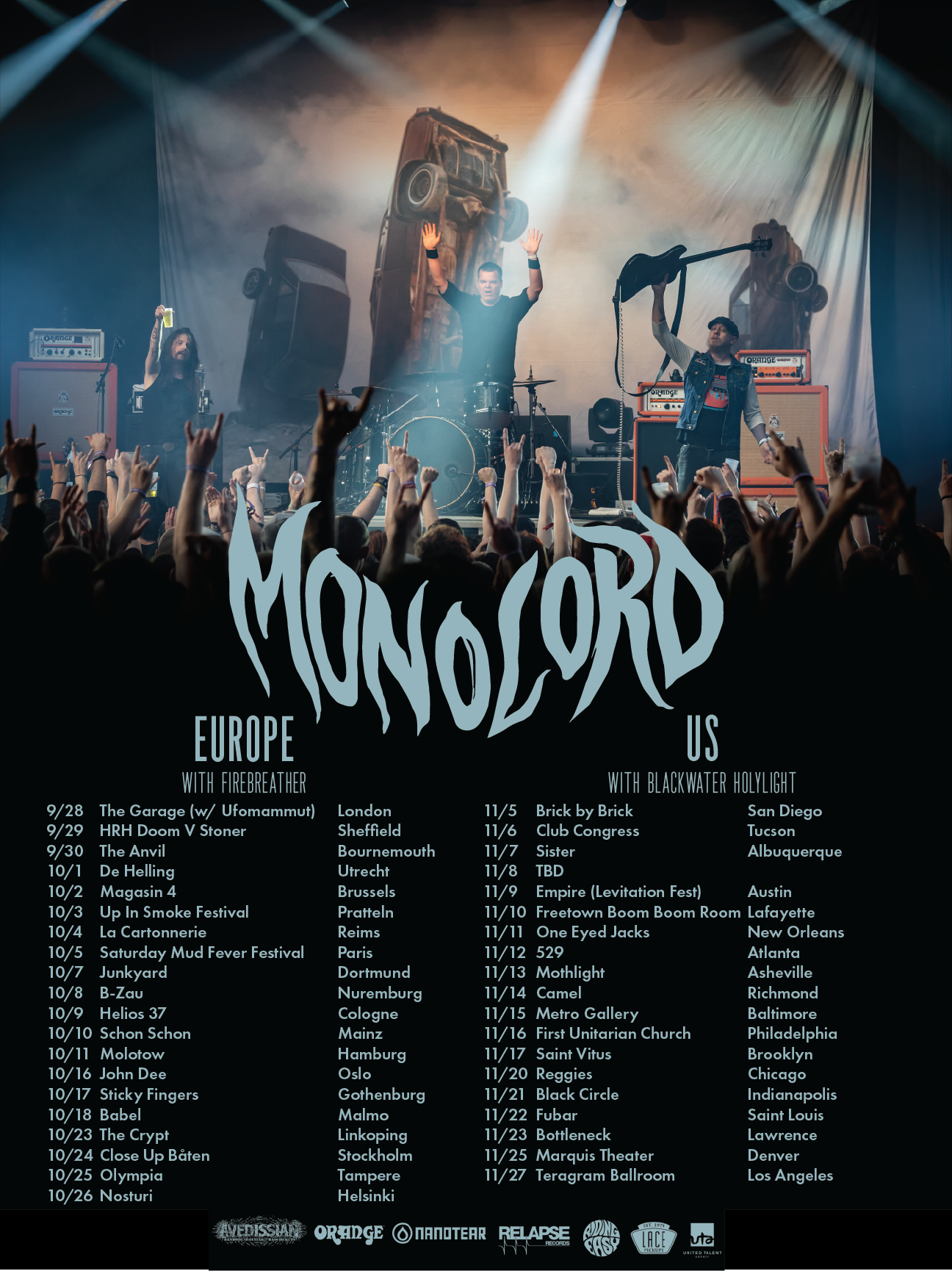 Catch Blackwater Holylight on their US tour with  Monolord  and Space Cadaver. Tap the image to purchase your tickets!