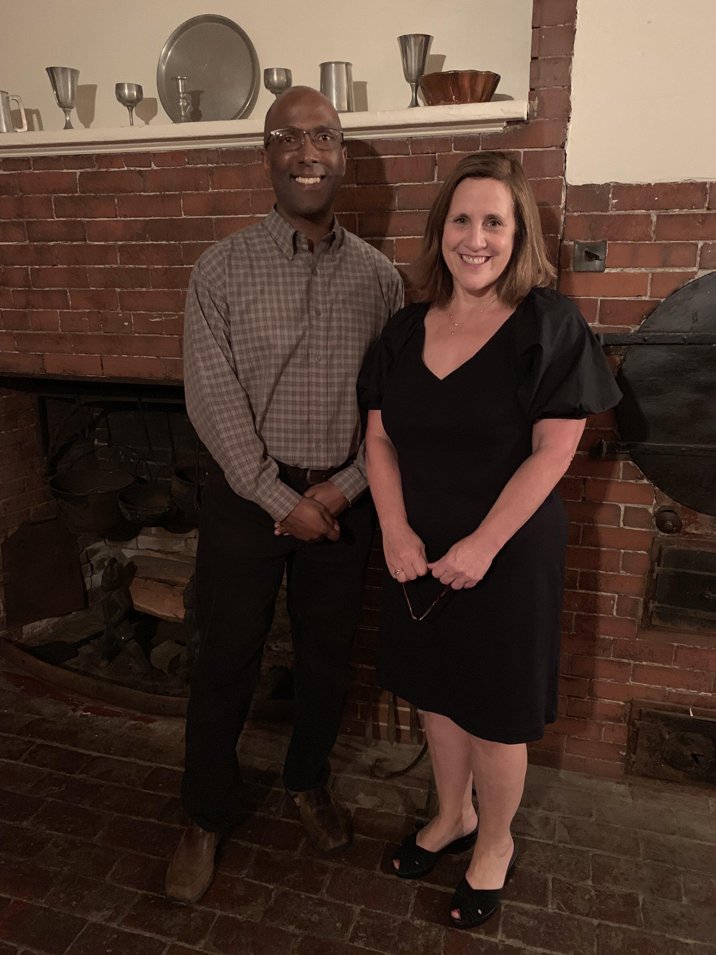 George Ford, Jr. , Remond descendant, and Dr. Donna Seger of Salem State University