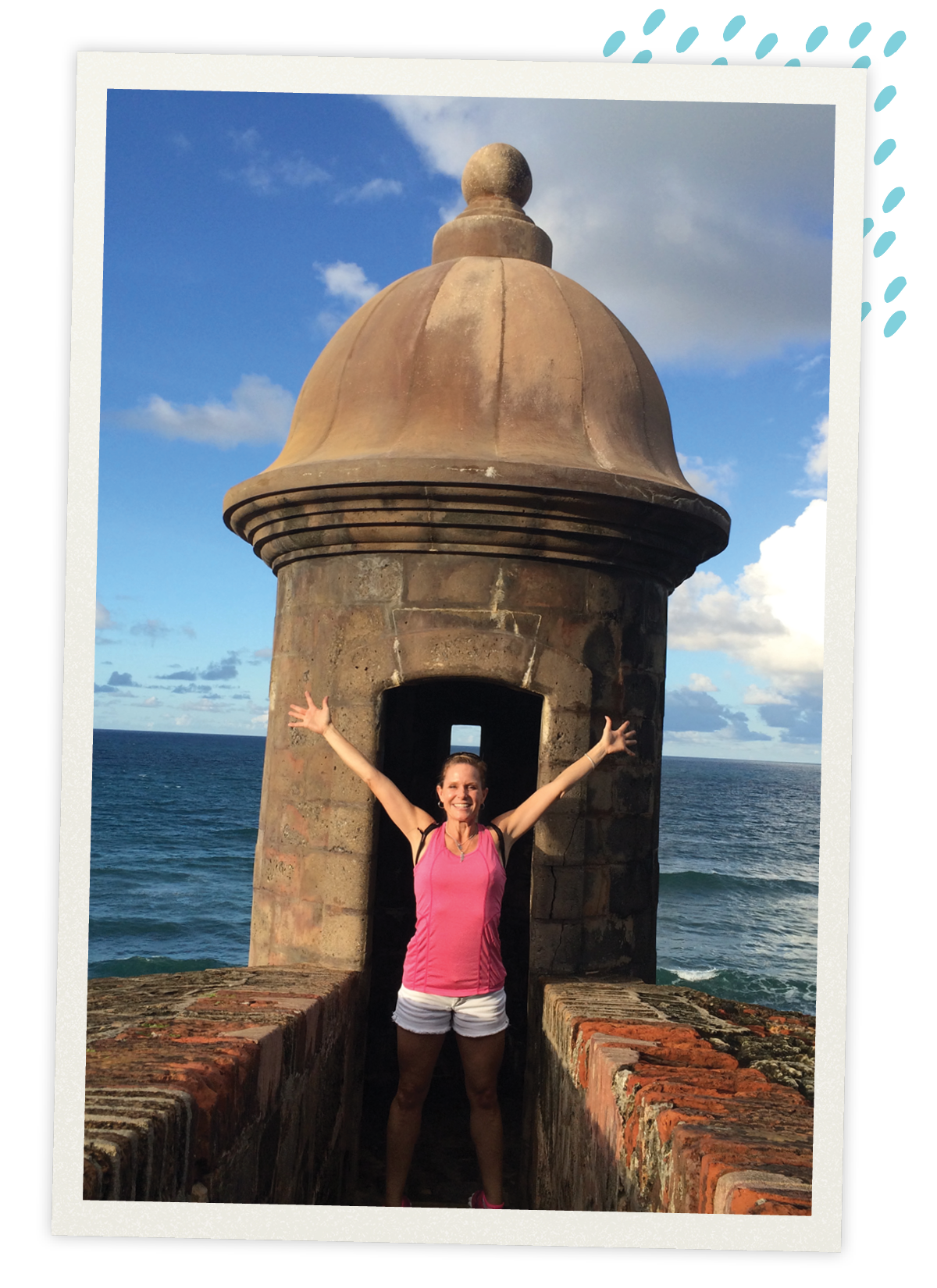 Loving the Spanish Fort and ocean in Puerto Rico