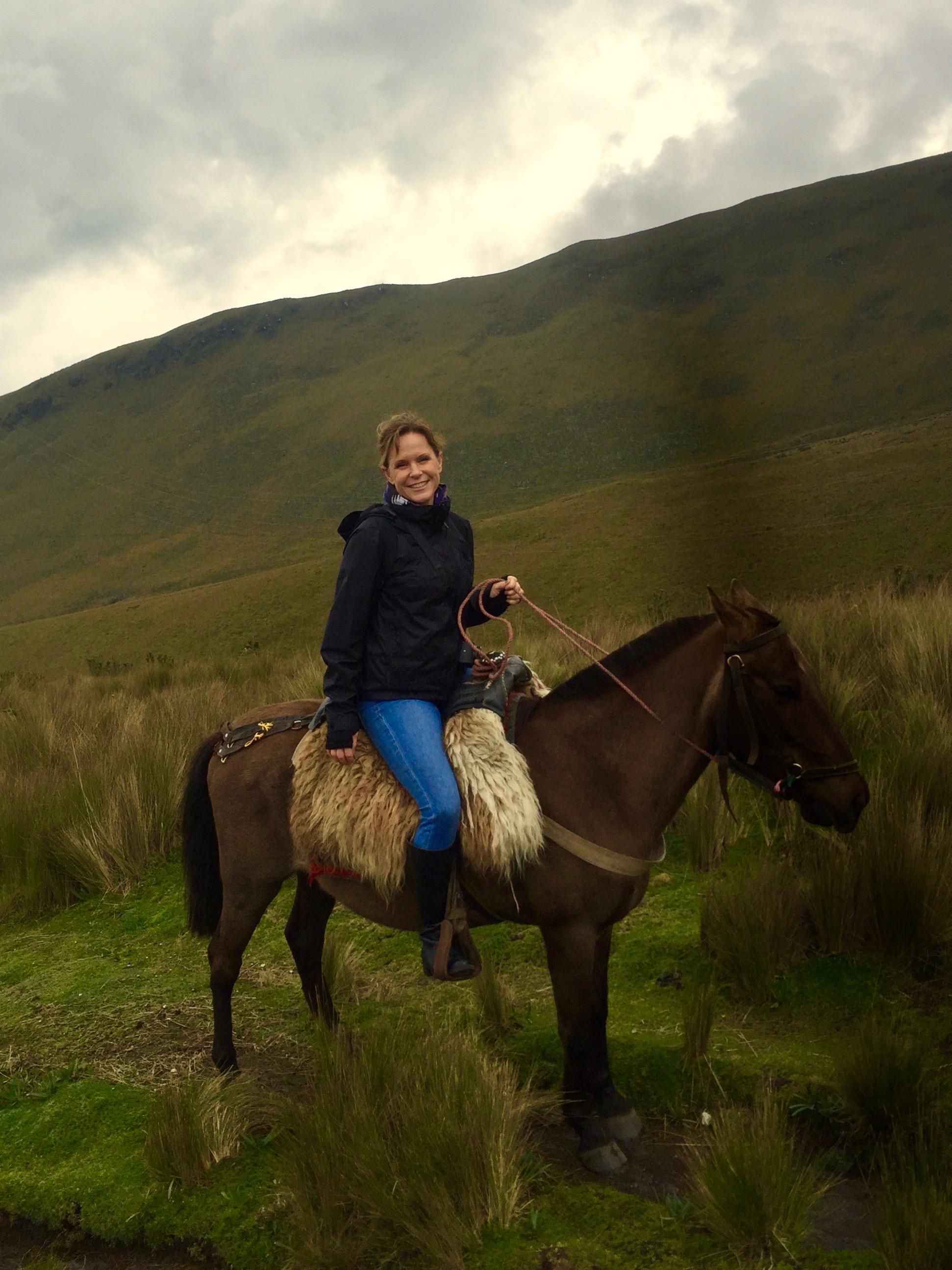 Enjoying a horse back ride