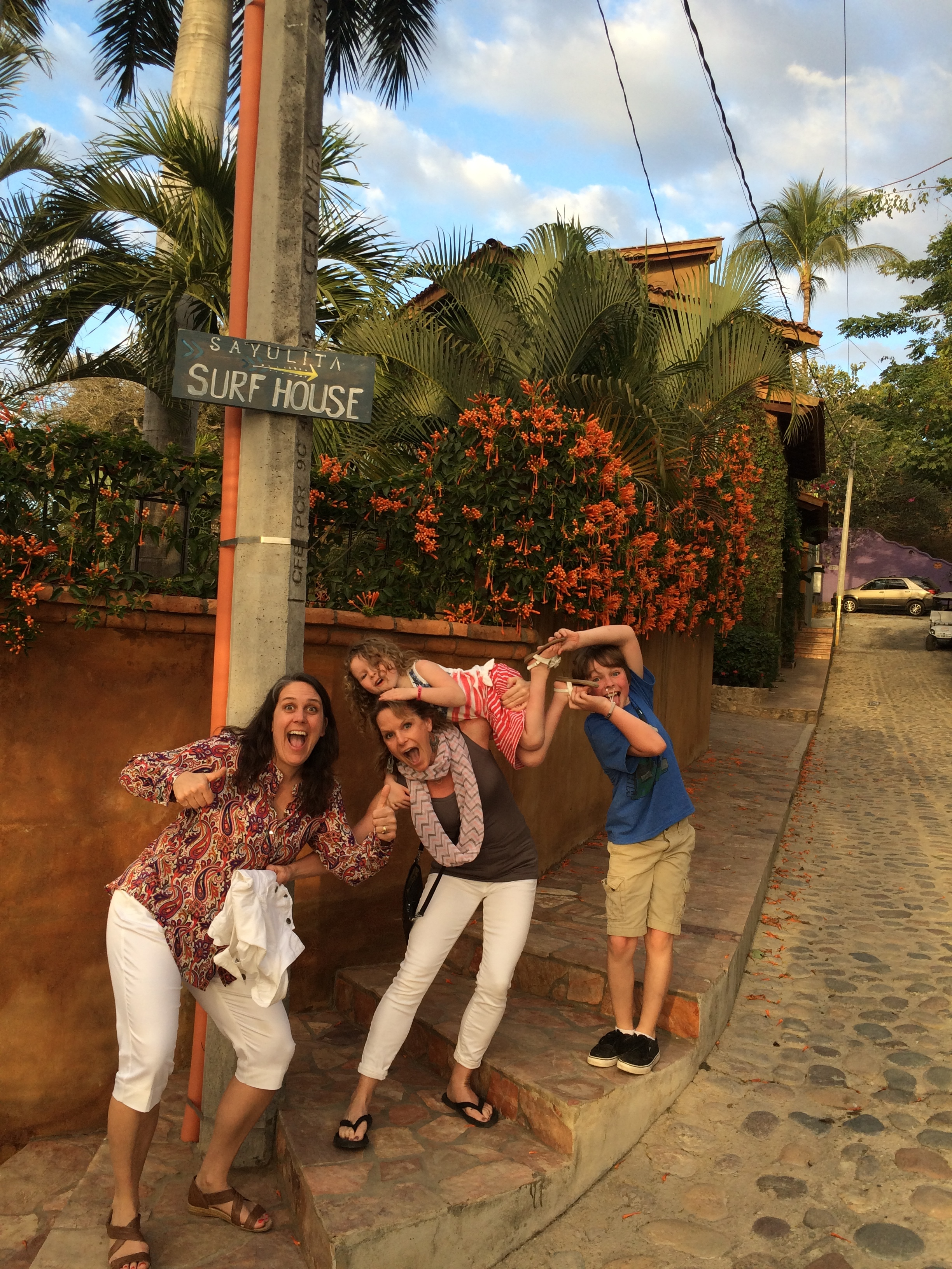 Sayulita, Mexico with friends and their kids