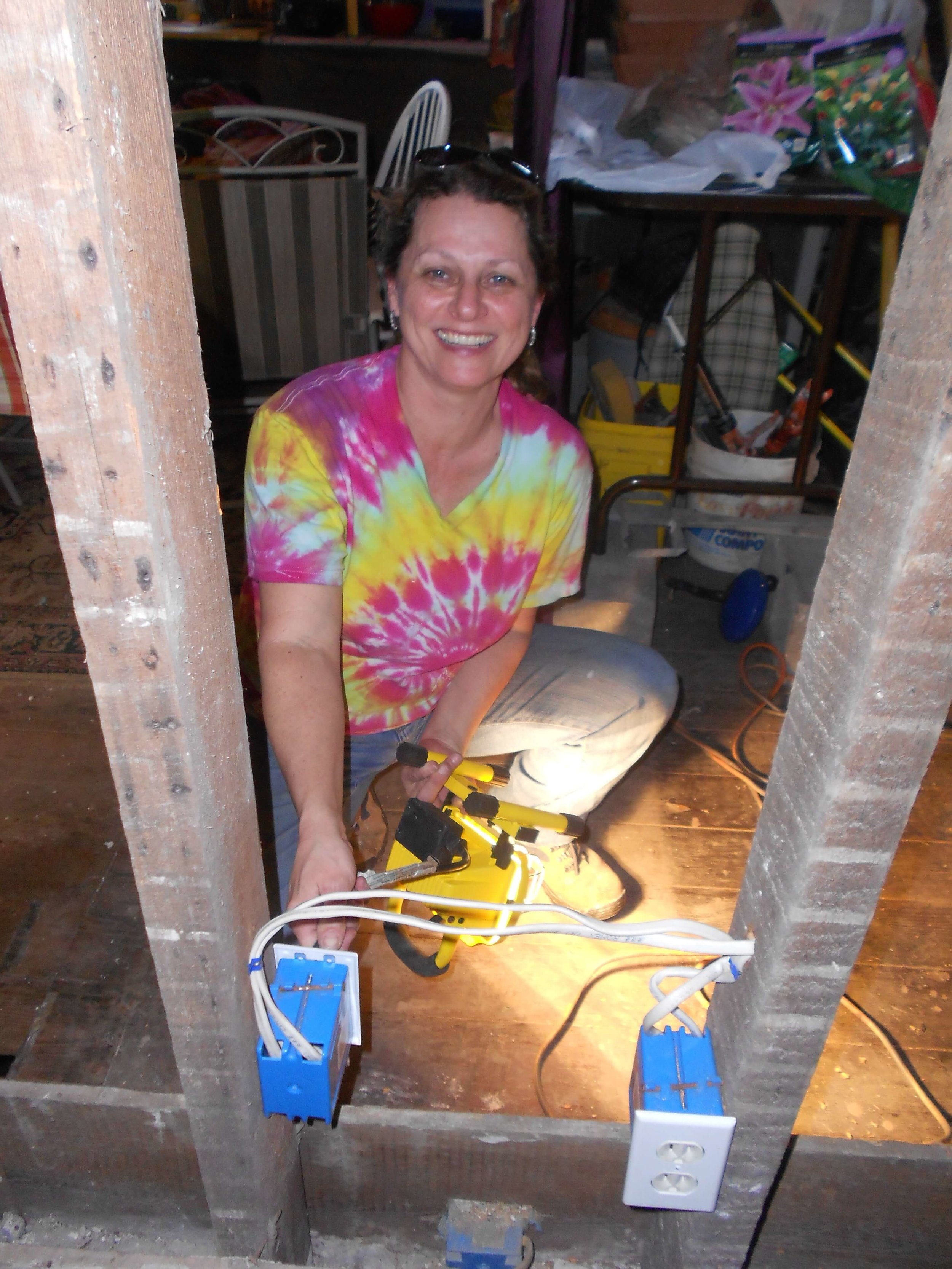 This is one of my PBL projects in action. I'm working at a home in New Orleans helping rebuild homes destroyed by Hurricane Katrina.