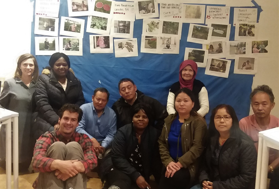 Additional researchers include top row: Elizabeth Ndolo, Dhan Subba, Man Rai, Maryam Yousefi, Front row: Andrew Blunk (project coordinator), Josephine Kanyamukenge, Sanchi Gurung, Nar Gurung, Bhudhi Subba.  Photo: Maryam Yousefi