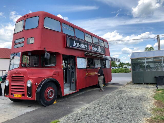 Q: What do you get when you mix an adventurous Toastmasters from the Blue Ridge Mountains of Virginia with a British-inspired menu prepared by a chef from Silicon Valley with a double-decker Polish bus? A: Lunch and so  much more.