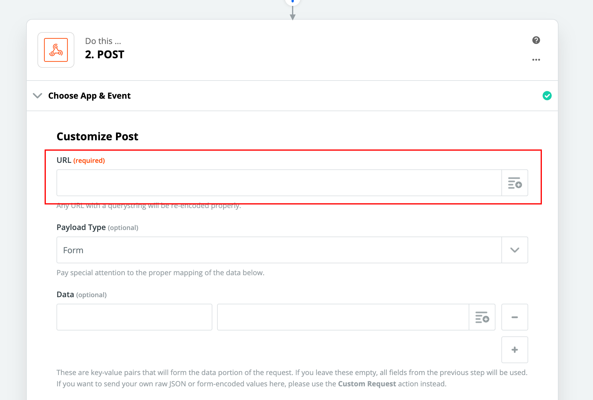 "Copy and paste your posting URL from your marketing source from your Shape ""Marketing Sources"" settings page."