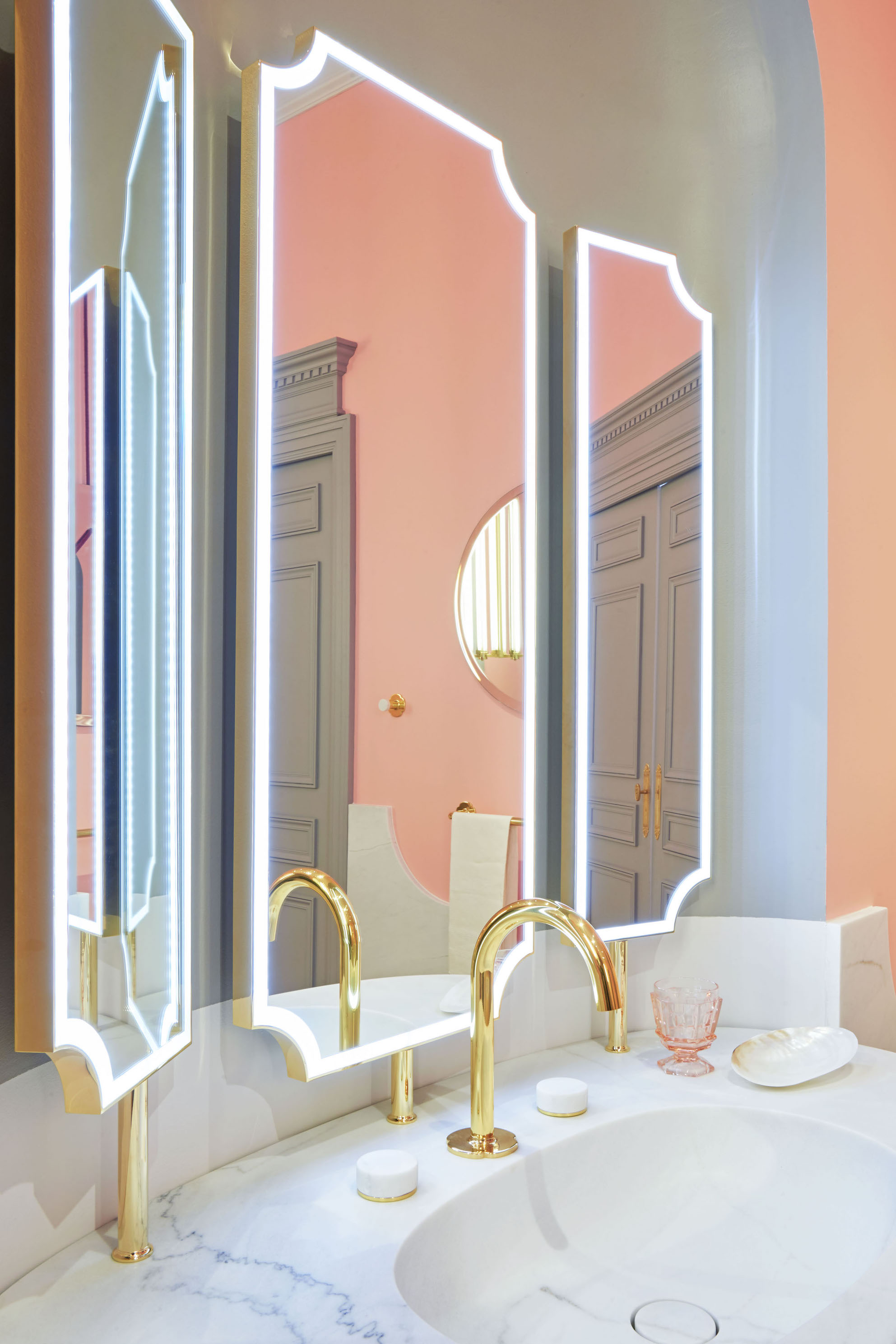 Miroir triptyque -