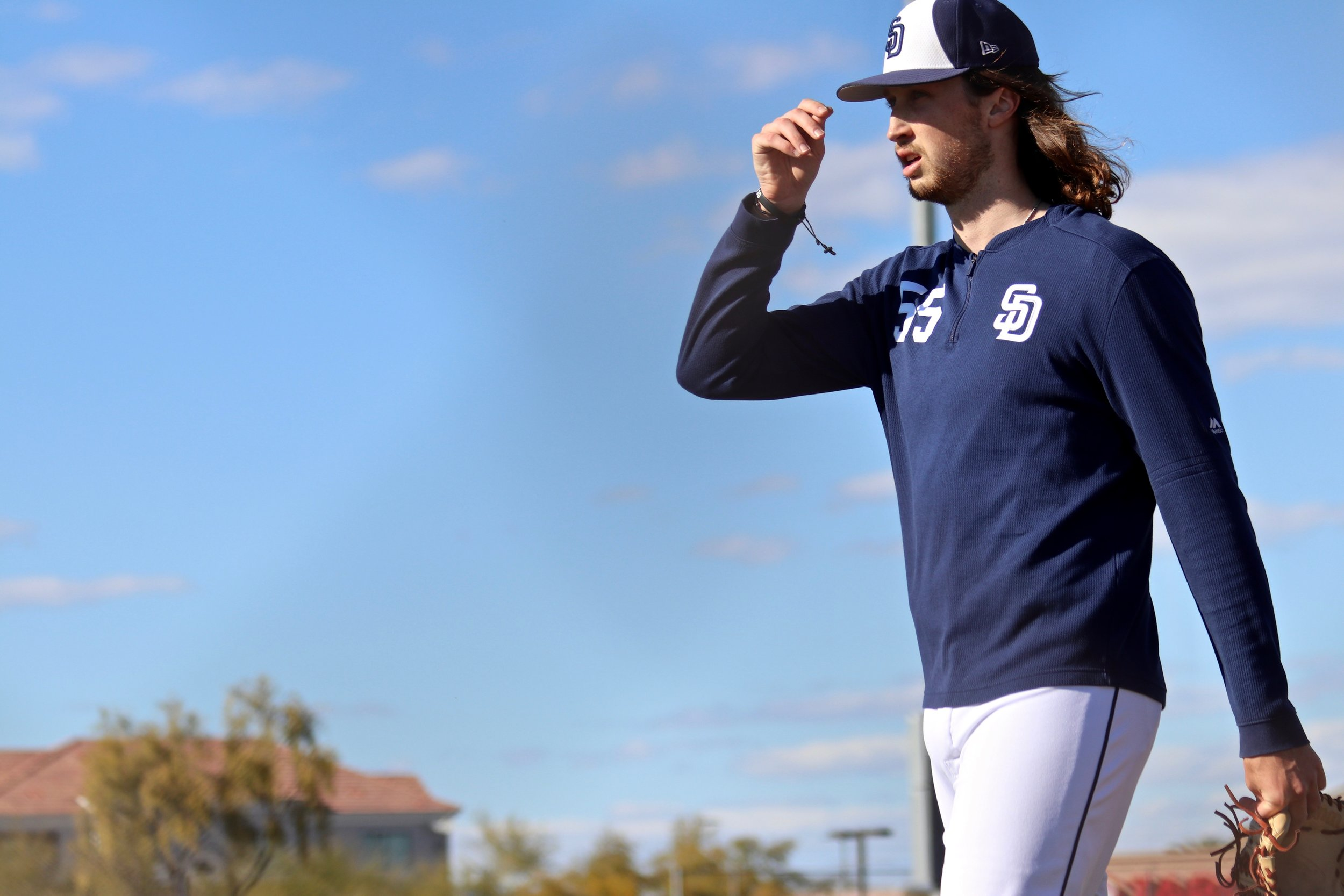 Matt Strahm's offseason transition to starting pitcher - 18 raw eggs and one pound of red meat per day. His college coach, Steve Murray, knew Strahm could do it.