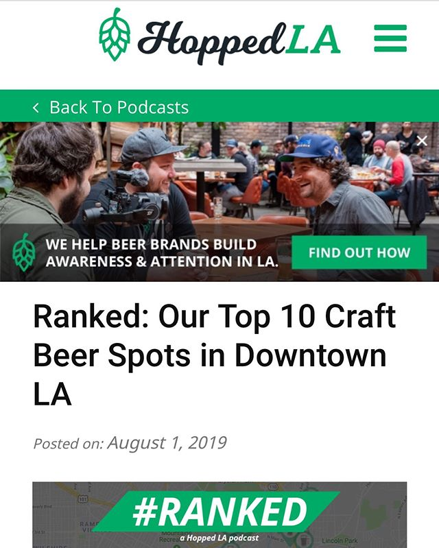 Thanks @hoppedla! We are so excited to be #ranked as one of the Best Craft Beer Spots in DTLA! 🍻🍻🍻 Beer Director: @JamesMacan @FreePlayDTLA @TheFieldsLA #craftbrews #weknowbeer #dtla #larestaurants #labars #expopark #besthappyhourinla