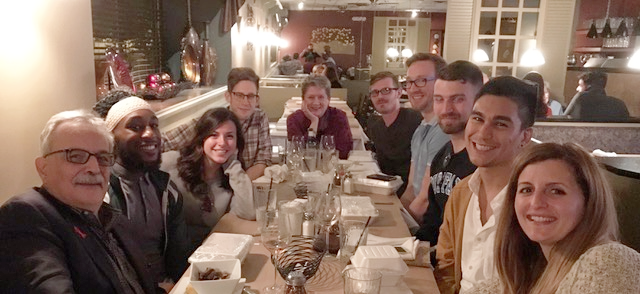 Here we are all together. (From left, clockwise: Dr. Bill Valenti, Tim Brumfield, Jaime Morrill, Sam Jett, Mary Guhin, Josh Elsenheimer, Dr. Michael Lecker, Dennis Adey, Fernando Muller, Dr. Ashley Zuppell)