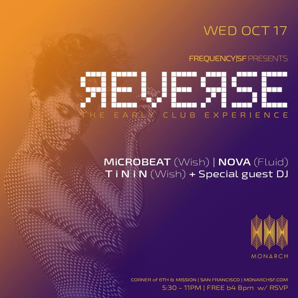 REVERSE @ MONARCH - Free B4 8pm with Eventbrite RSVP