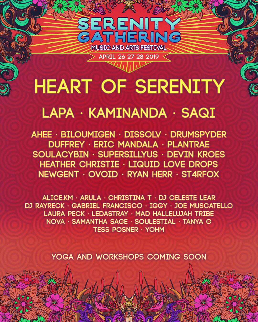 Serenity Gathering - NOVA feat. Samantha Sage @ 3am Sunday April 28Heart of Serenity Stage