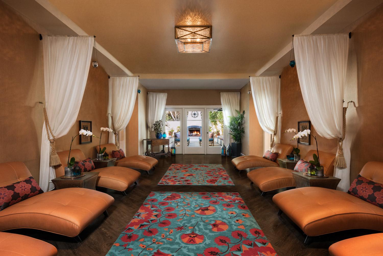 Spa at Hotel Estancia in La Jolla, southern California resort photographer, spa photography, interior photographer, san diego photographer