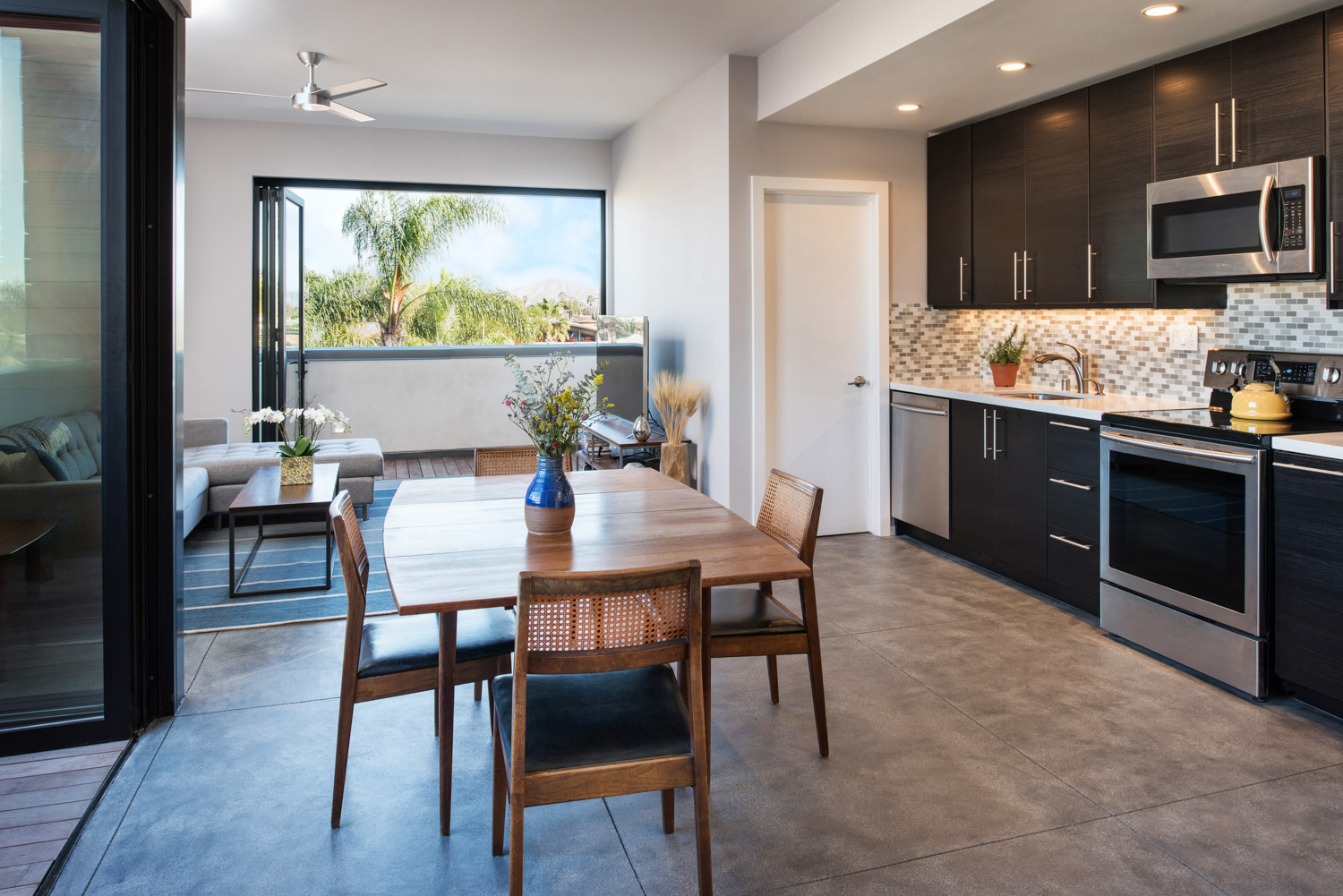 Apartment kitchen interior, architectural photographer san diego, southern california architecture photography