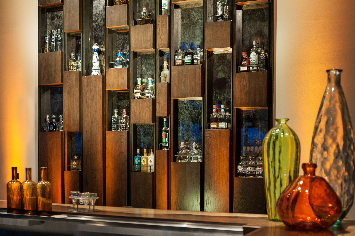 Tequilla bar detail, bar and restaurant photographer, architectural photographer, san diego photographer