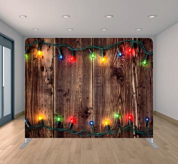 Wood With Christmas Lights