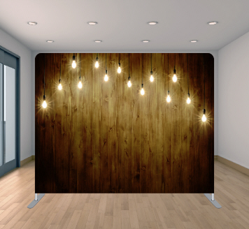 Wood W/ String Lights