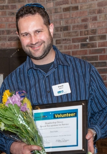 Honored with a Special Recognition for Service award at the 2018 Wisconsin Public Television volunteer banquet