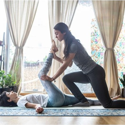 Thai Yoga Massage - Thai Yoga massage is a traditional healing system combining acupressure, Indian Ayurvedic principles, and assisted yoga postures.Book a 90 minute private session with Chloe Hooton.