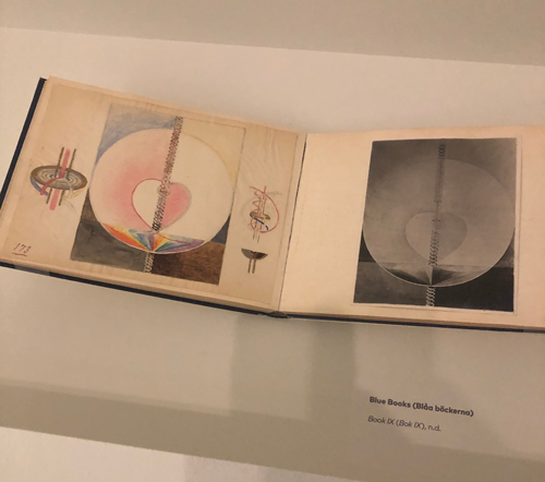 Af Klint's notebook, where she reproduced her paintings and detailed her rich symbolism