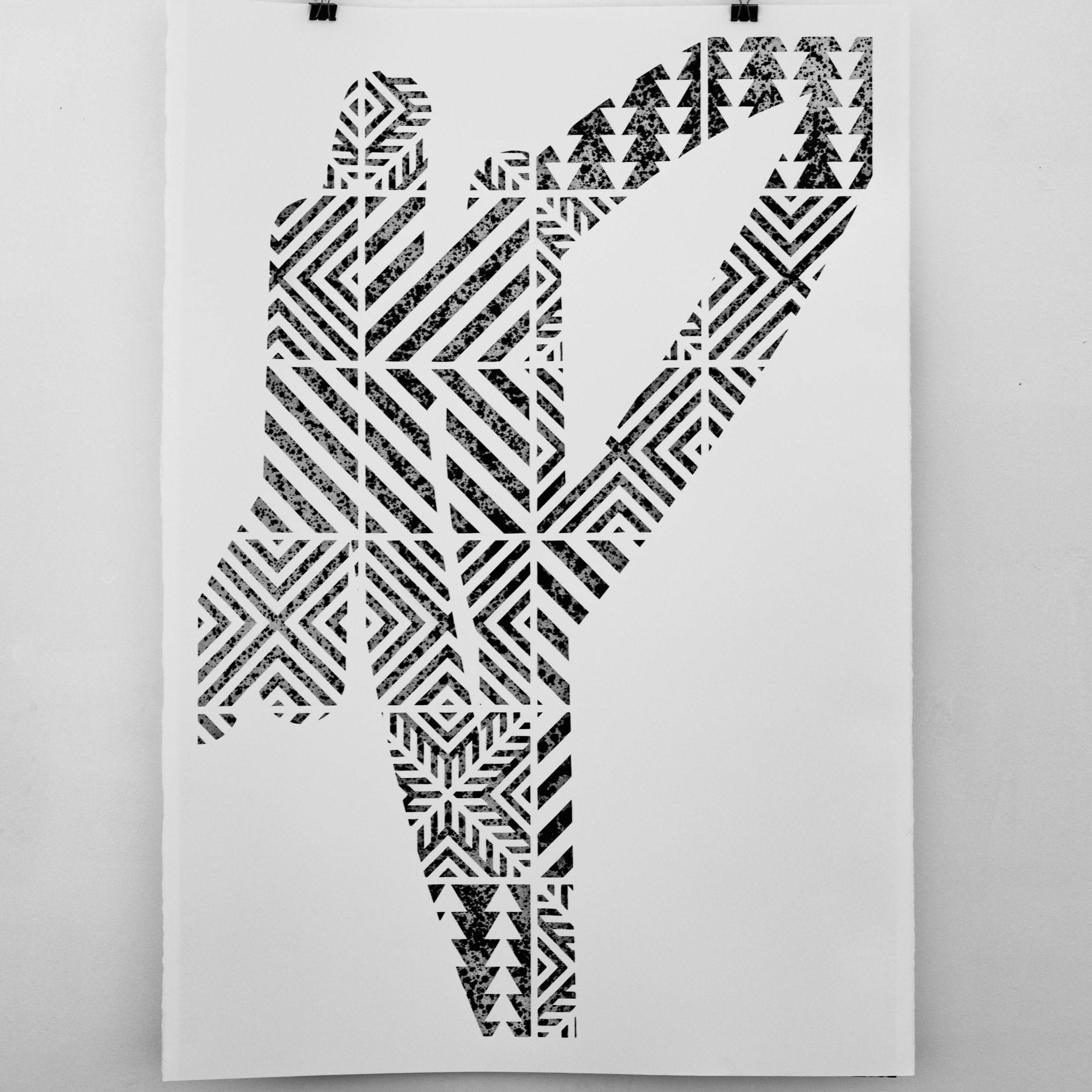 UNTITLED  Hand Cut Paper and Chinese Ink 1000 x 700 mm 350€