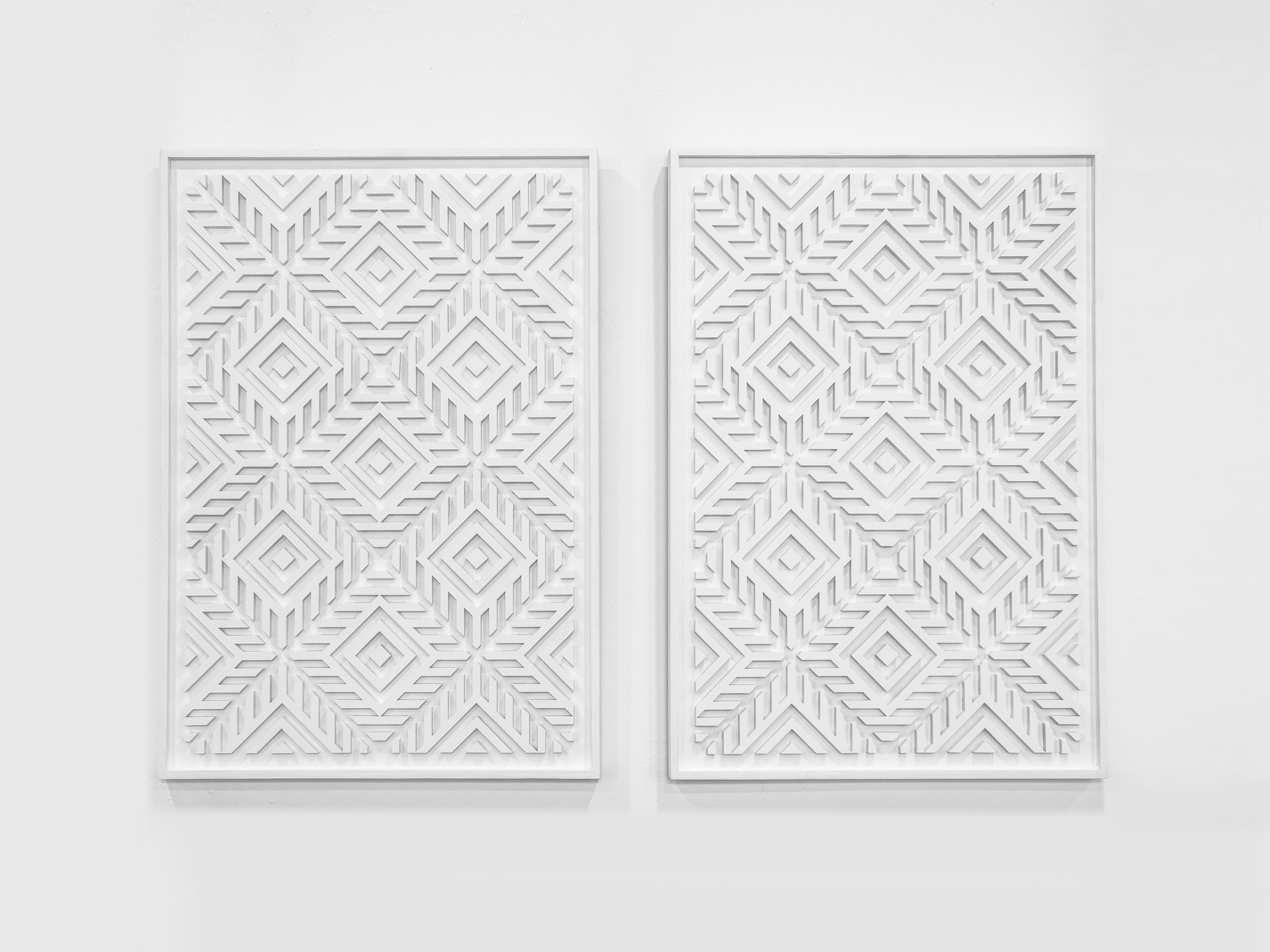 UNTITLED  Acrylic on wood 500 x 730 mm