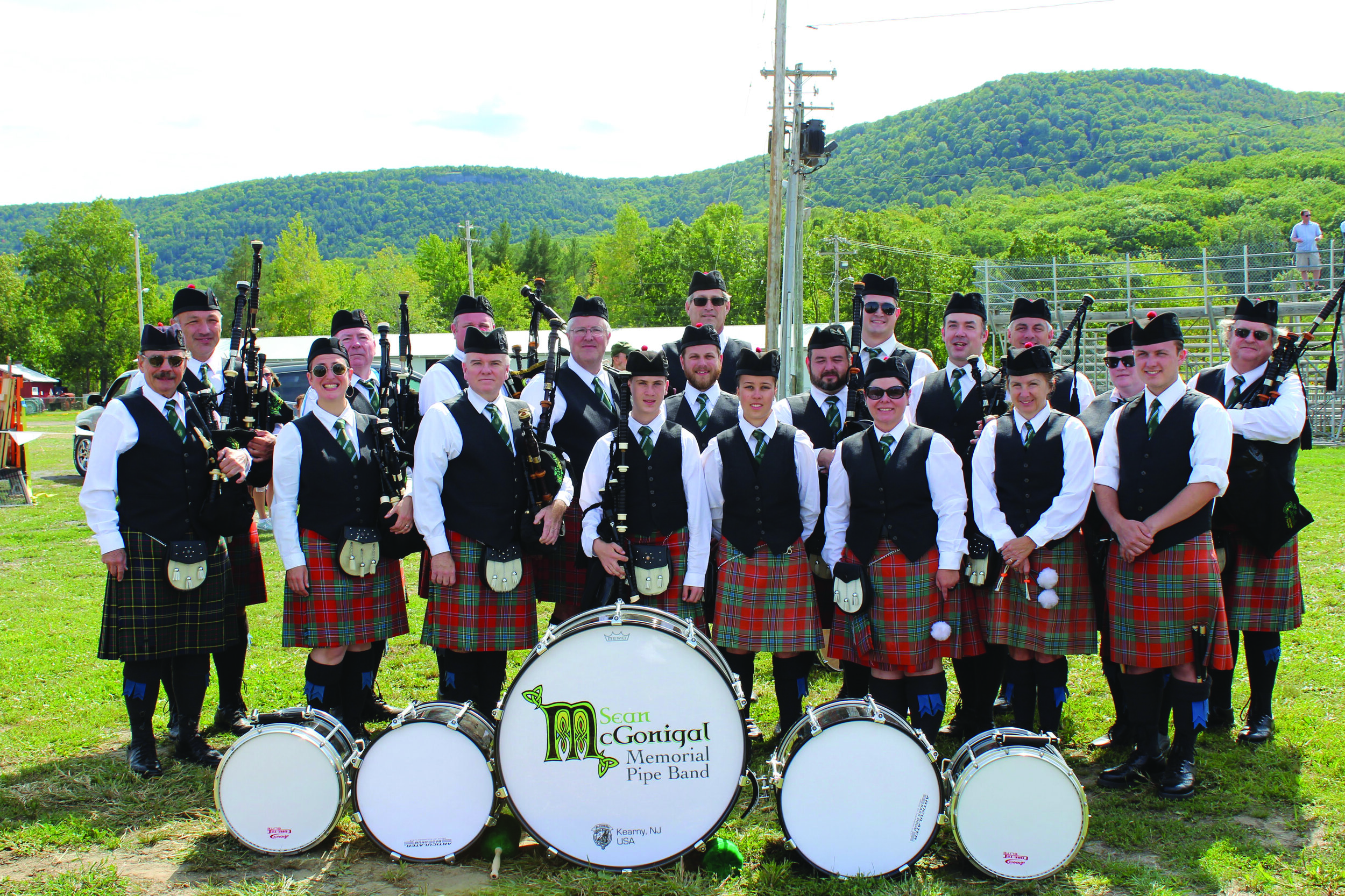 Sean McGonigal Memorial Pipe Band at the 2019 Capital District Scottish Games.