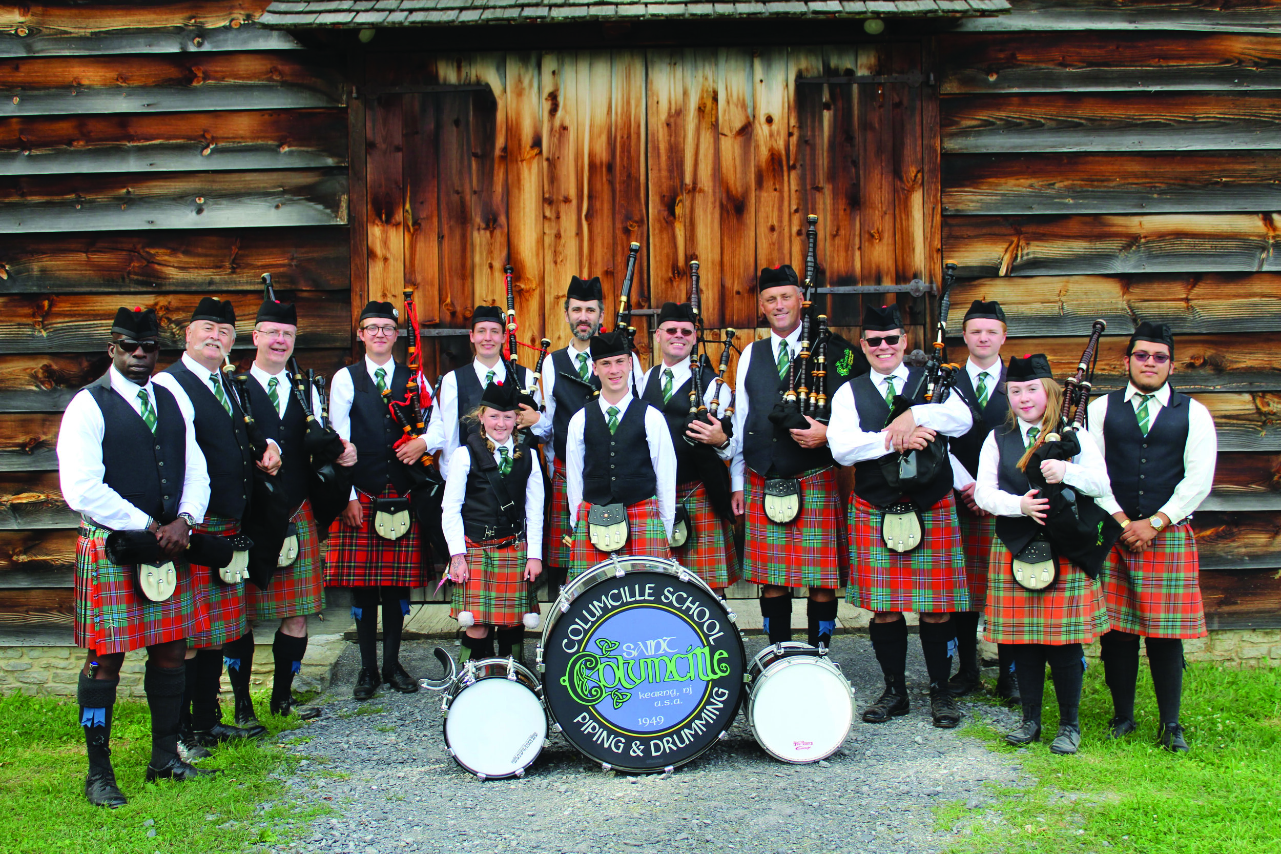 Columcille School of Piping and Drumming at the 2019 Capital District Scottish Games.