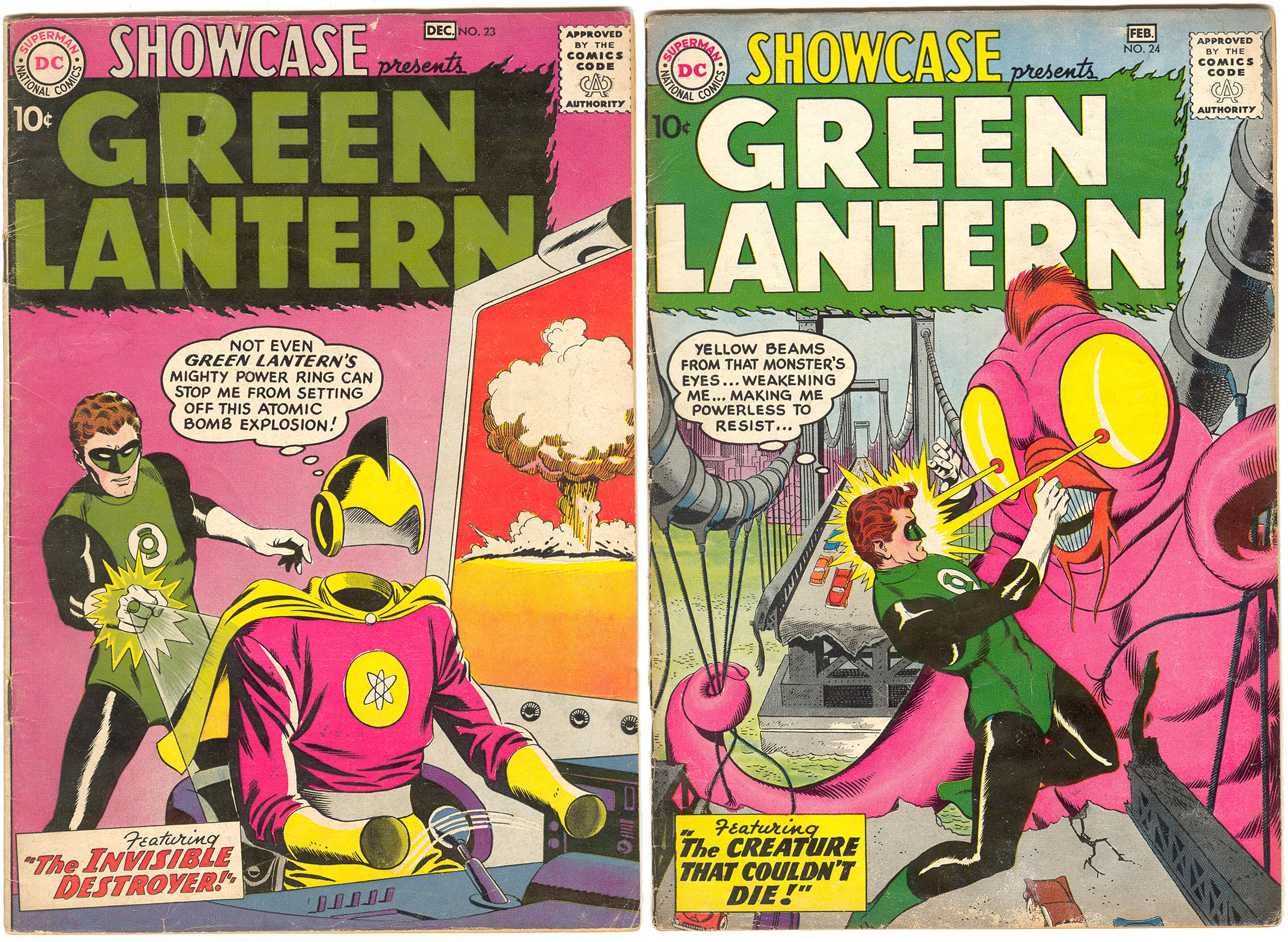 Showcase Presents #23 & 24. The 2nd and 3rd appearances of the Silver Age Green Lantern (Hal Jordan) some of the comics acquired decades ago at the Hollis Flea Market